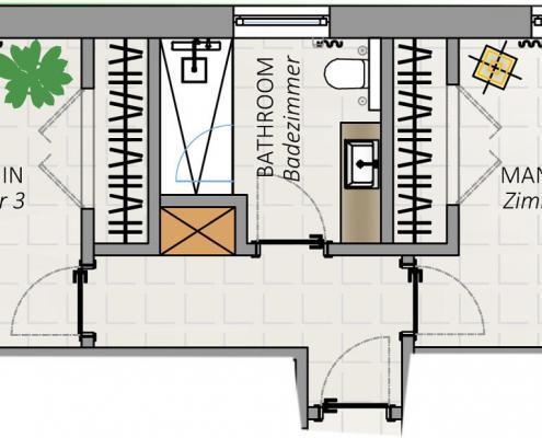 Villa FloridaDream, Plan 2/3, Manatee und Delphin Zimmer