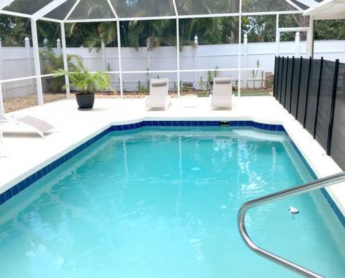 Villa FloridaDream Pool mit Nichtschwimmer-Zaun