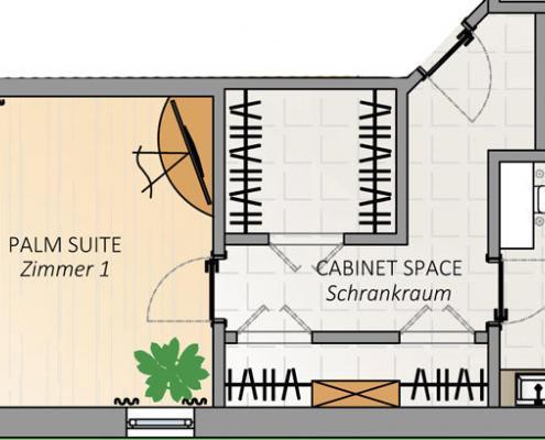 Villa FloridaDream, Plan Zimmer 1